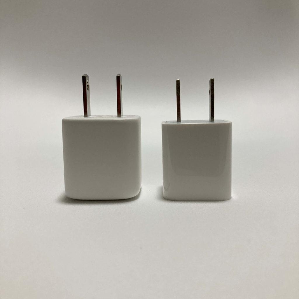 PA-B1とiPhone付属充電器