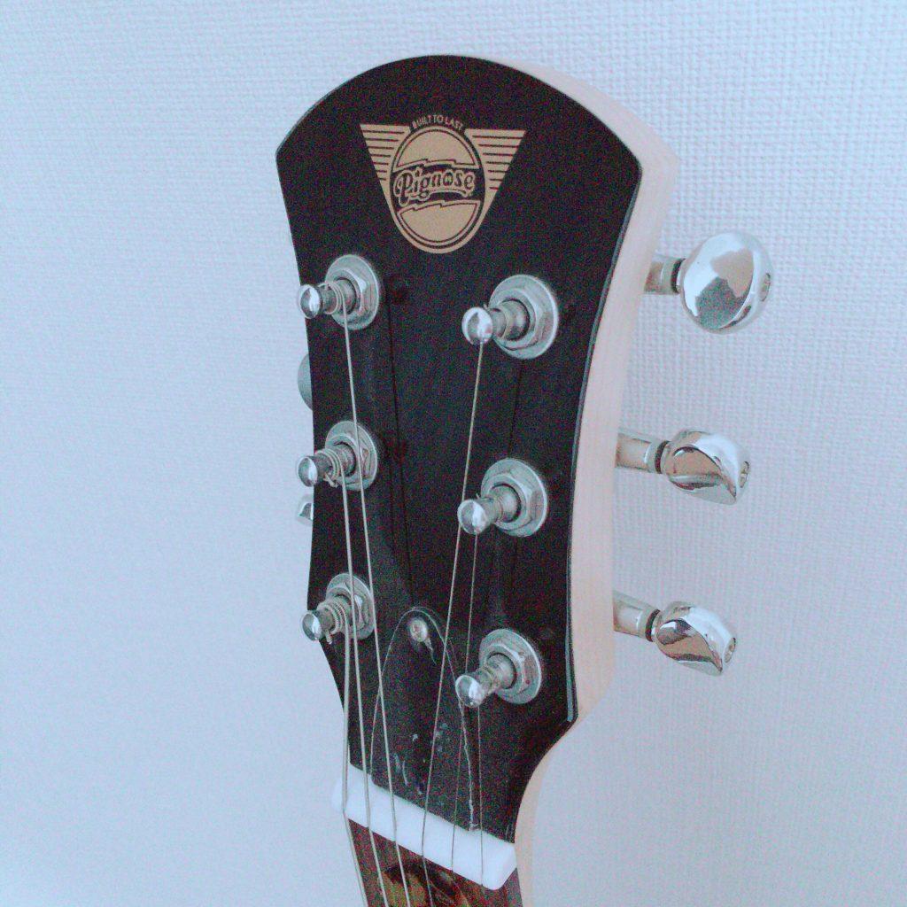 Pignose(ピグノーズ)アンプ内蔵エレキギターPGG-200のヘッド部