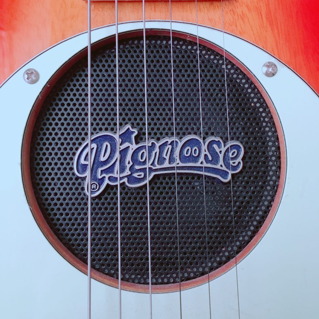 Pignose(ピグノーズ)アンプ内蔵エレキギターPGG-200のスピーカー