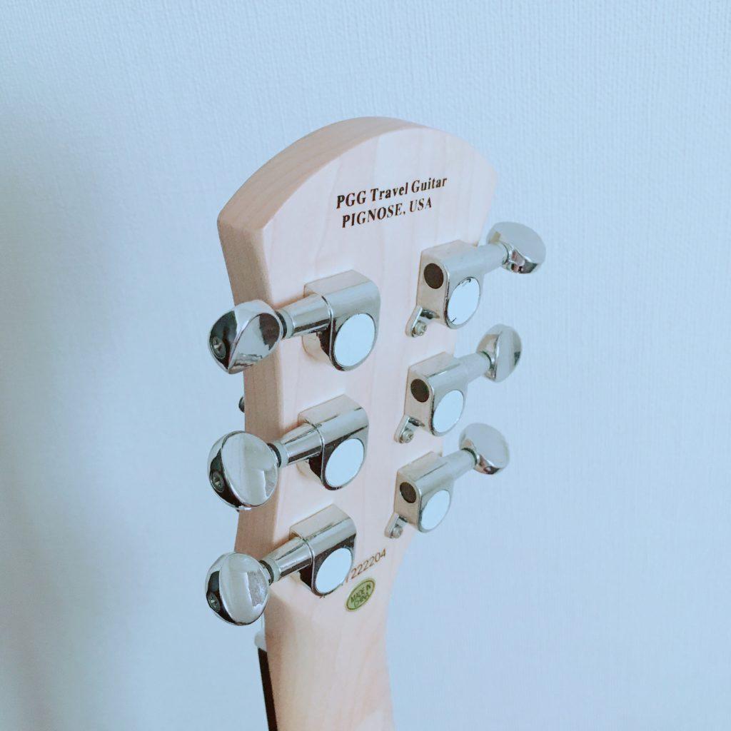 Pignose(ピグノーズ)アンプ内蔵エレキギターPGG-200のヘッド裏