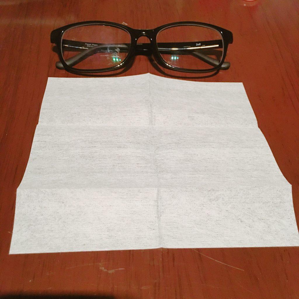 メガネ拭きの大きさ