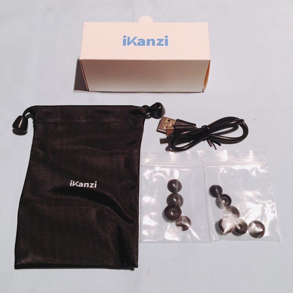 iKanziのTWS-X9の付属品