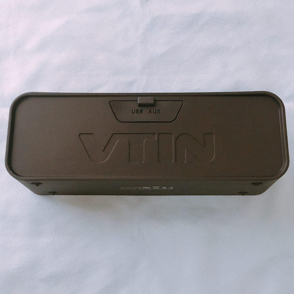 VTIN 防水BluetoothスピーカーBH172Aの裏側