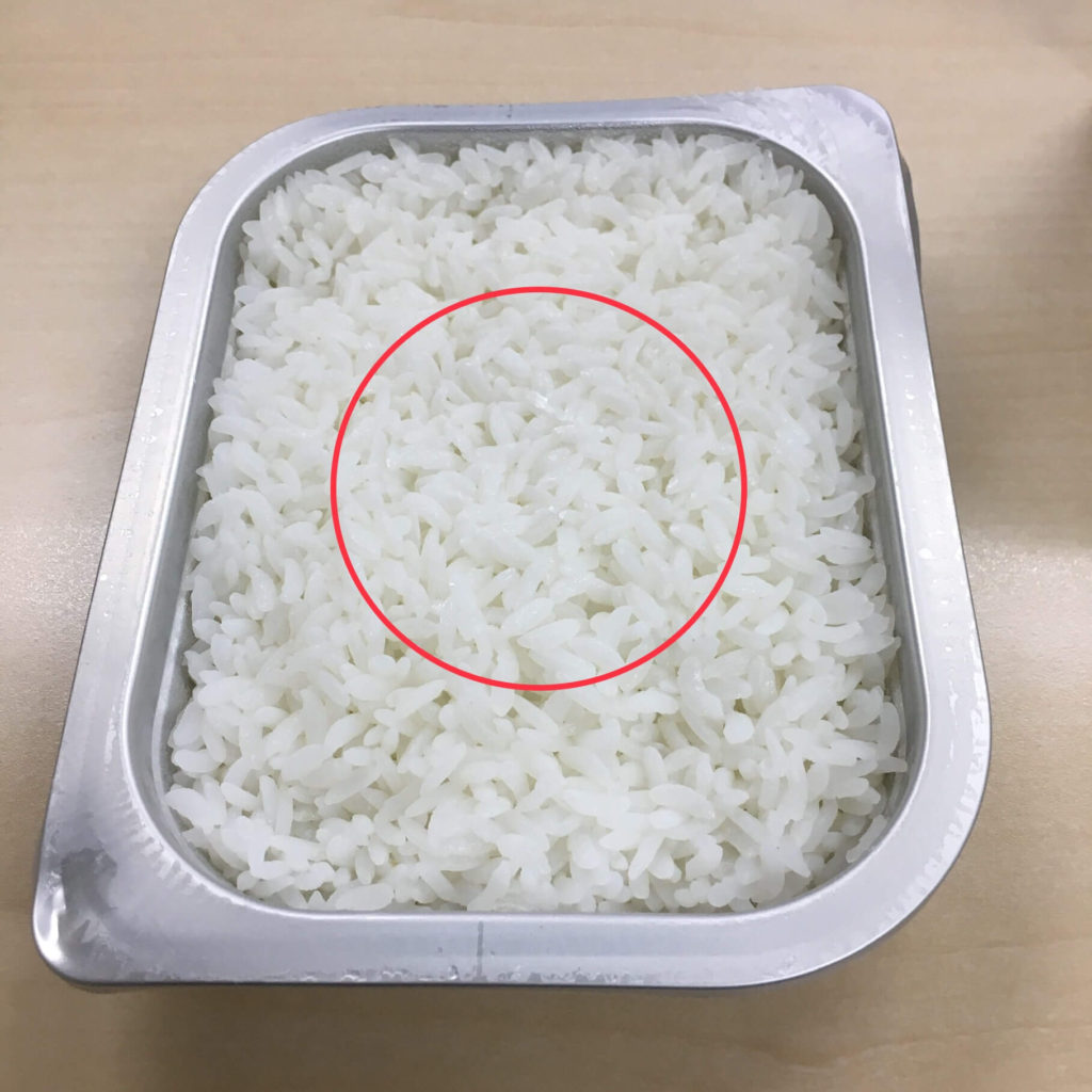 レスキューフーズ 一食ボックス カレーライスの白いごはん