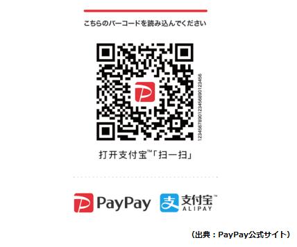 PayPayとAlipayを同時利用