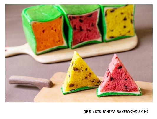 KIKUCHIYA BAKERYのスイカパンは3つの味