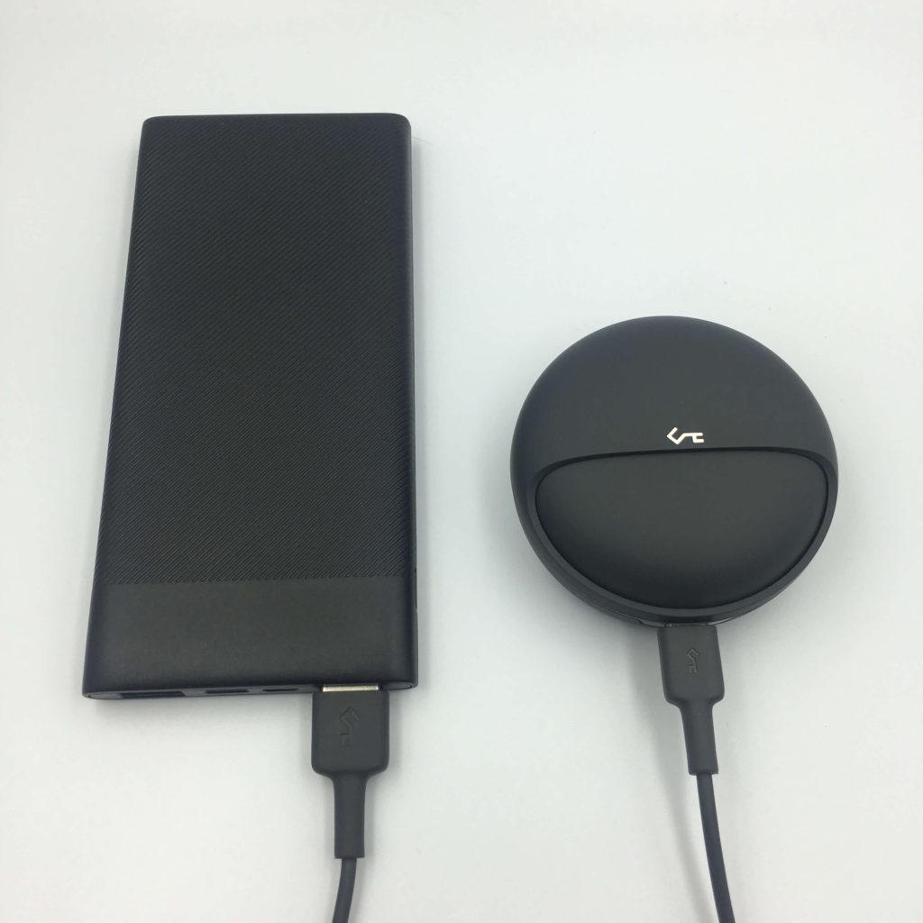 AKEY EP-T10はUSB-ケーブルでも充電可能