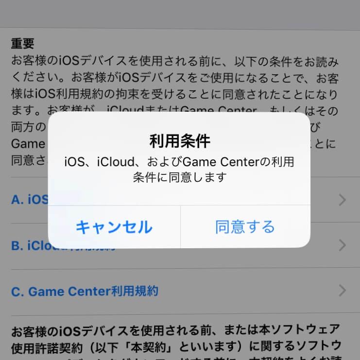 iOS13へのアップデート方法④