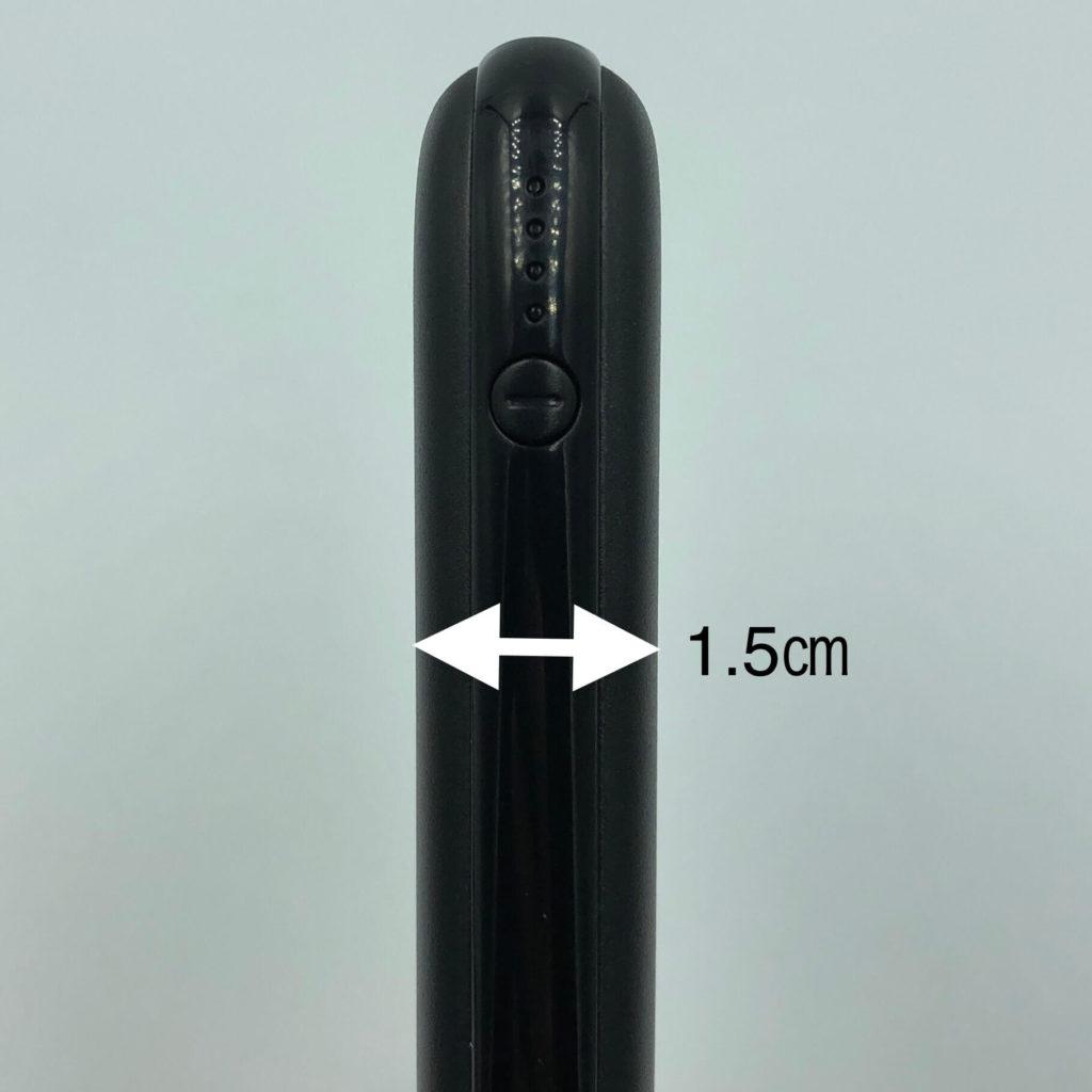PB-Y25の厚さは1.5㎝