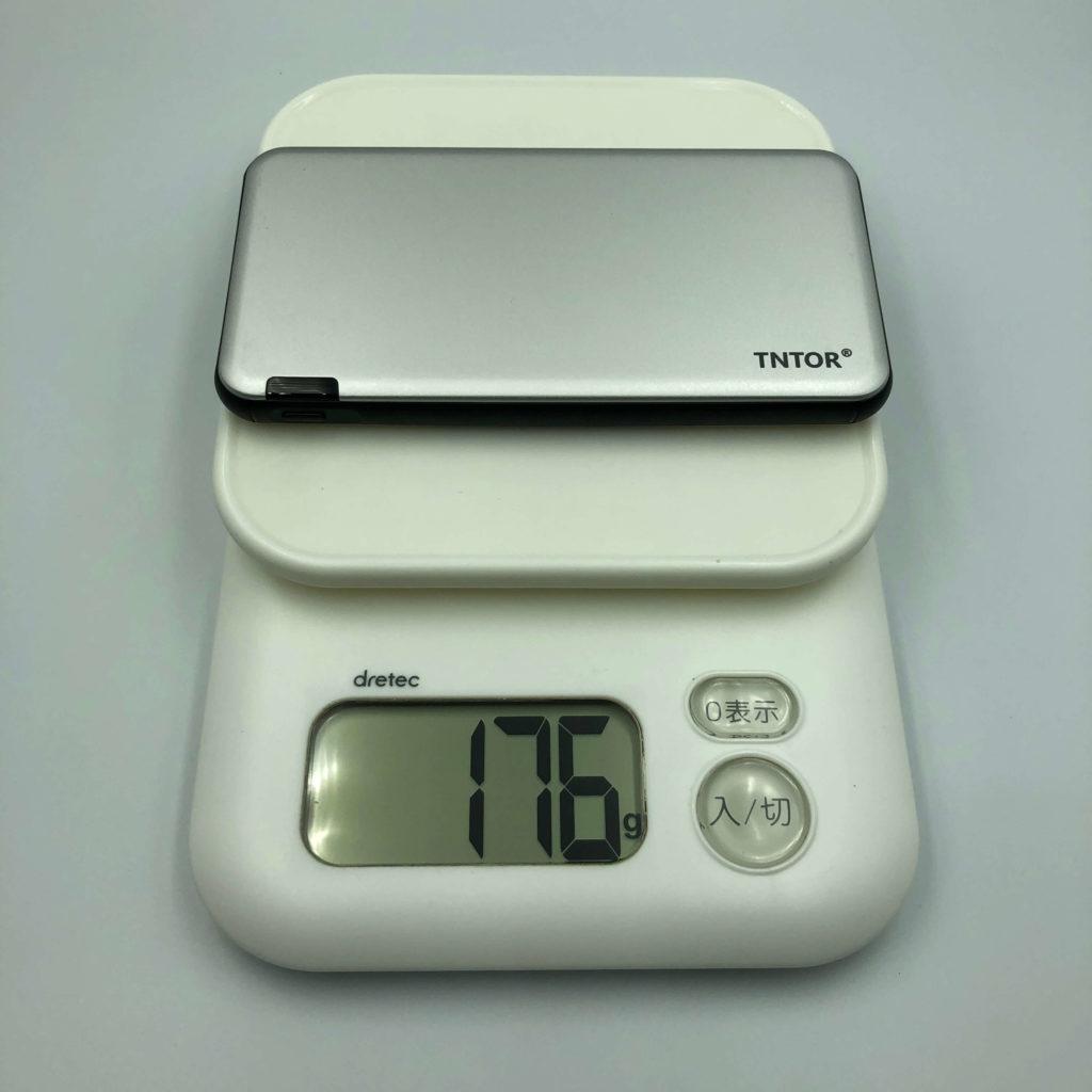 TN-10PDの重さは176g