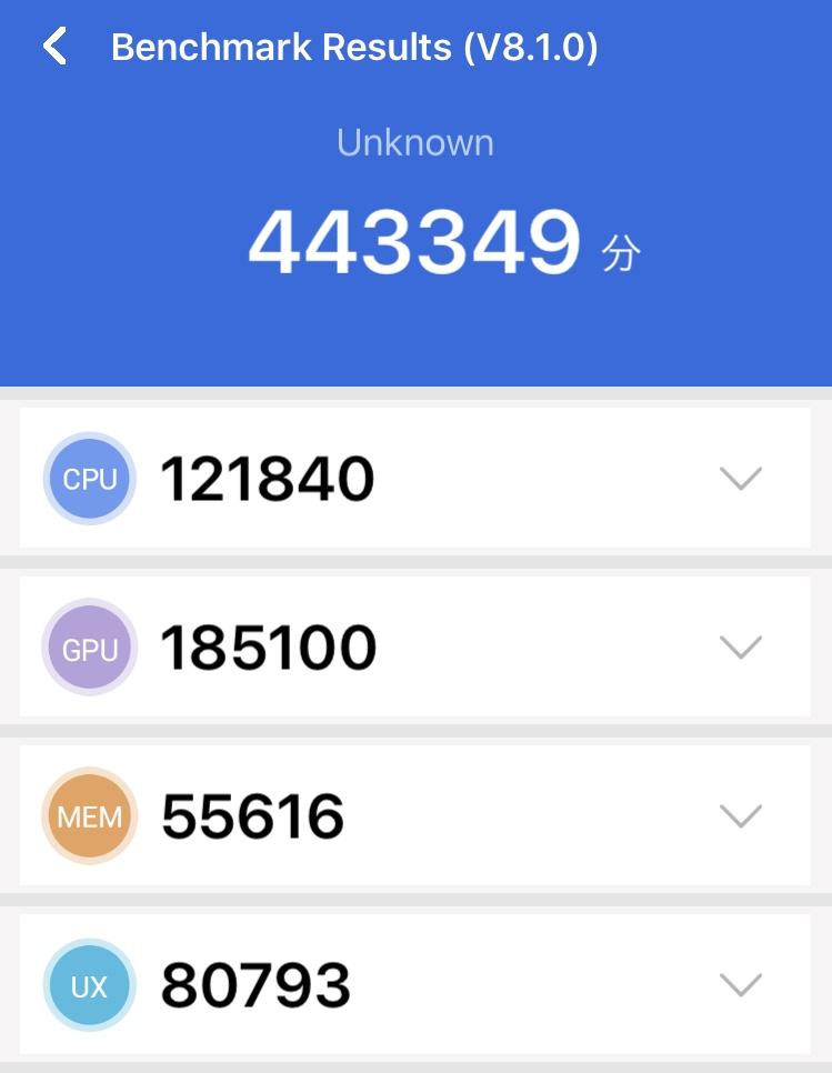 iPhone SE (第2世代)のAnTuTu