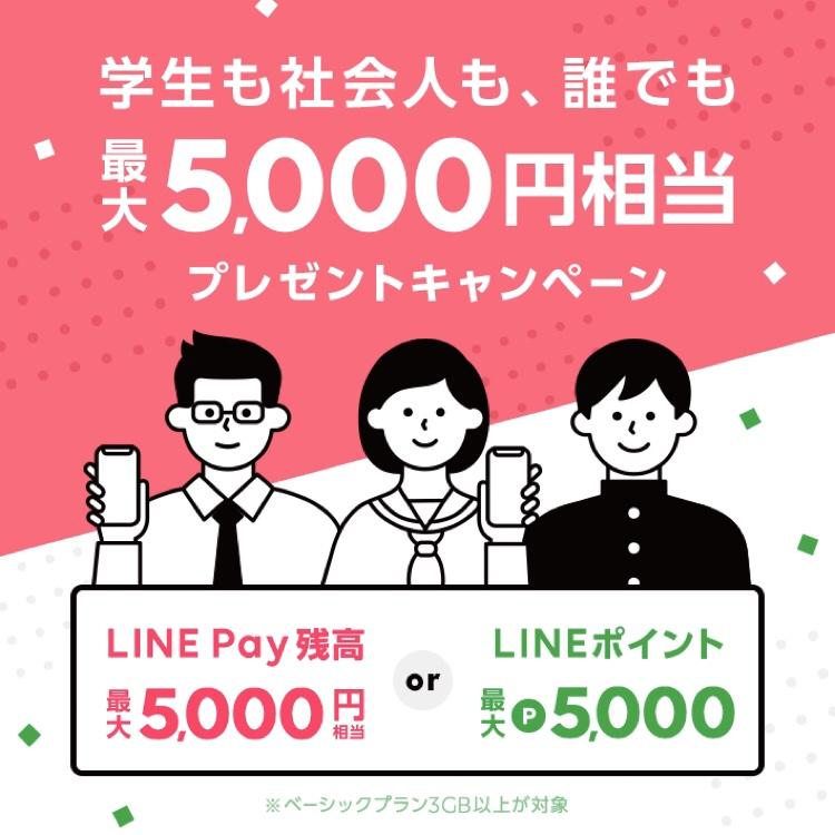 最大5,000円相当プレゼントキャンペーン