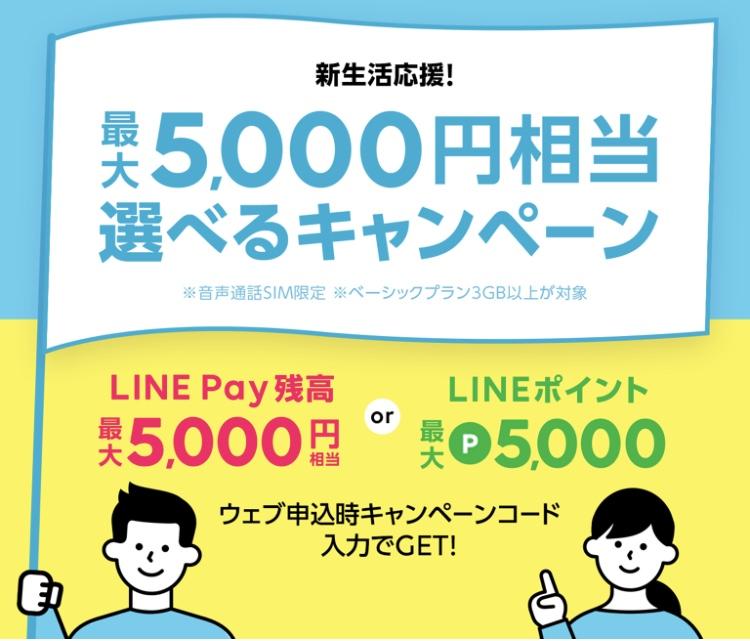 LINEモバイル2020年5月キャンペーン