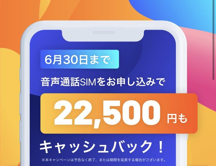 y.u mobileキャッシュバックキャンペーン①