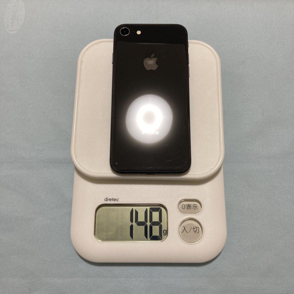 iPhone 8の重さは148g