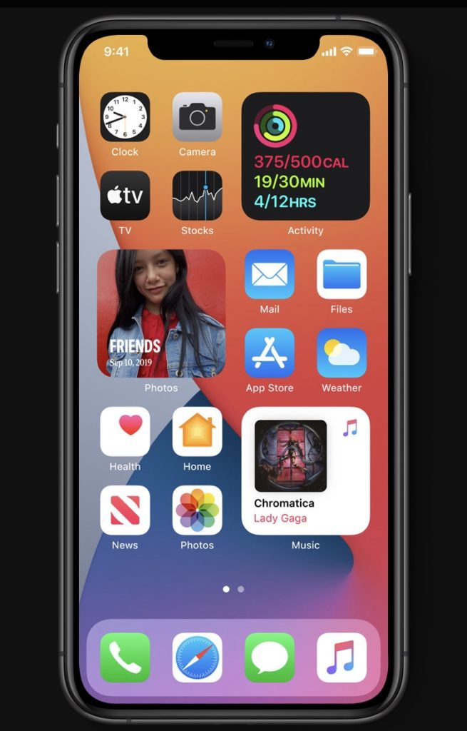 iOS24のホーム画面