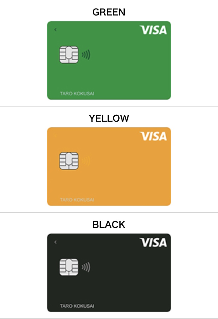 Visa LINE Payクレジットカードの種類②