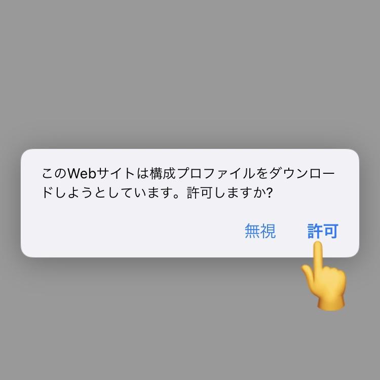 APN構成プロファイルのダウンロード