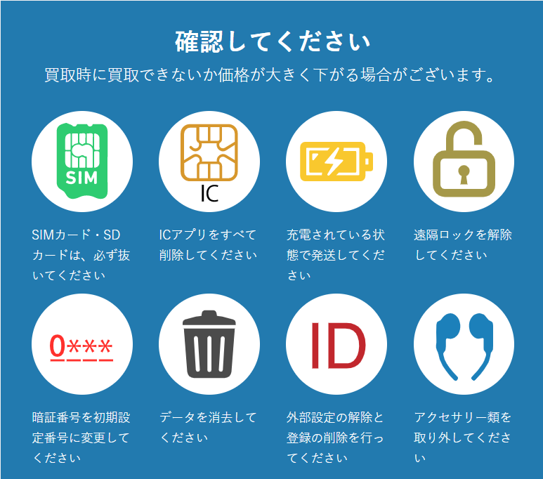 iPhoneをリサイクルネットへ送る前の注意事項