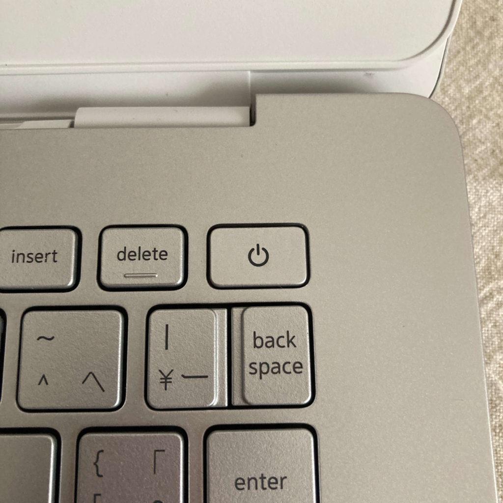 キーボードに組み込まれた電源ボタン