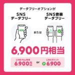 LINEモバイルロックの日キャンペーン(SNSデータフリー・SNS音楽データフリー)