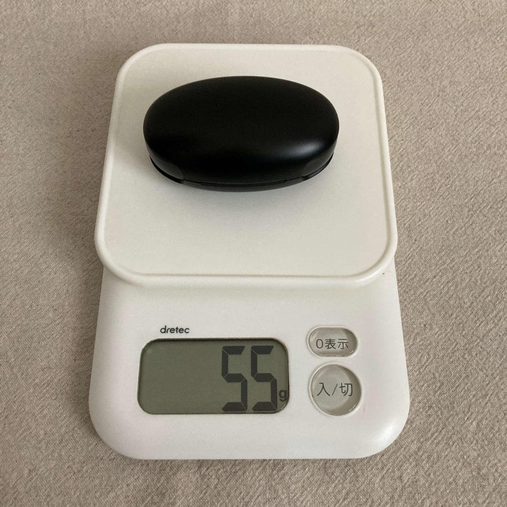 BQC35の総重量は55g