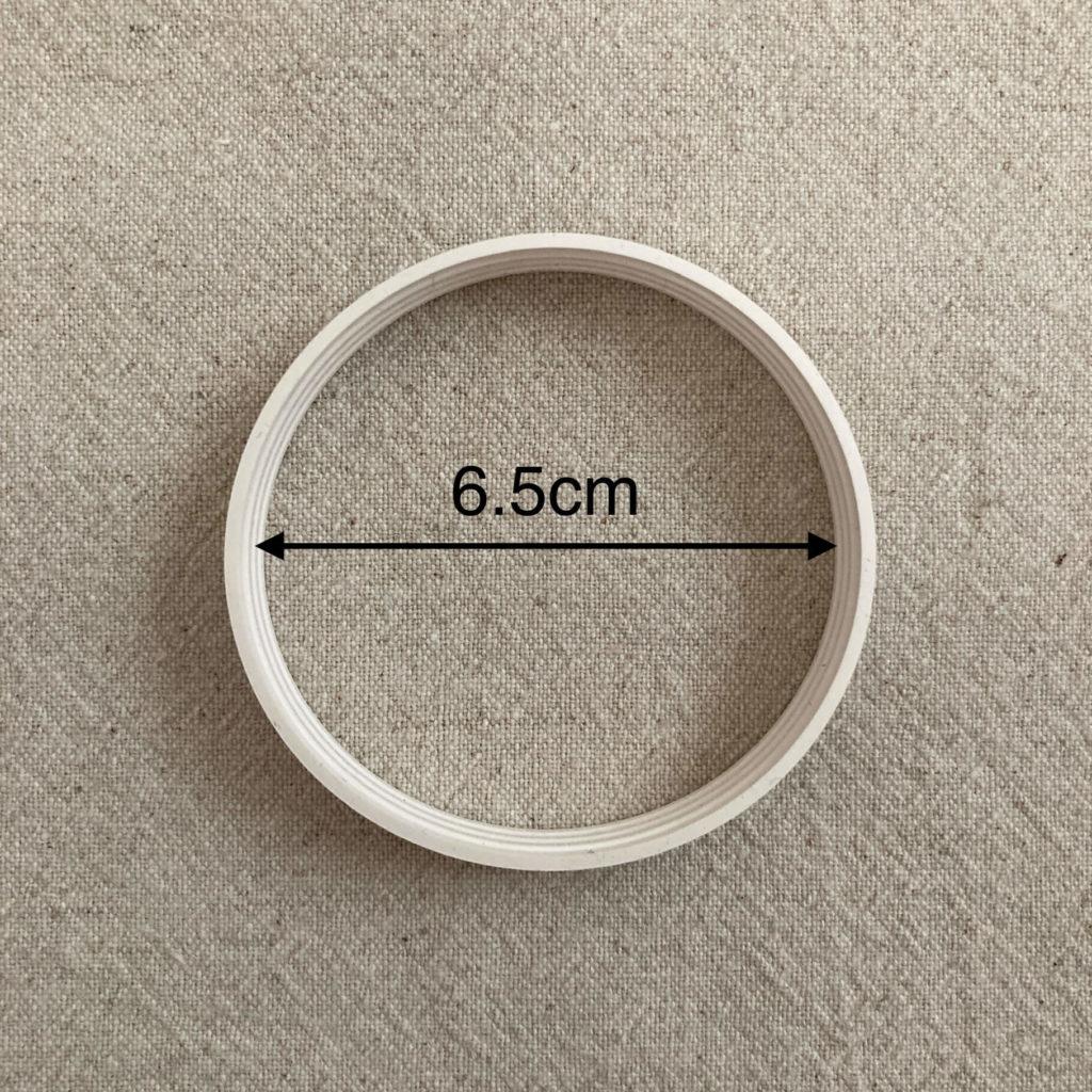 イオニアバンドの直径は6.5cm