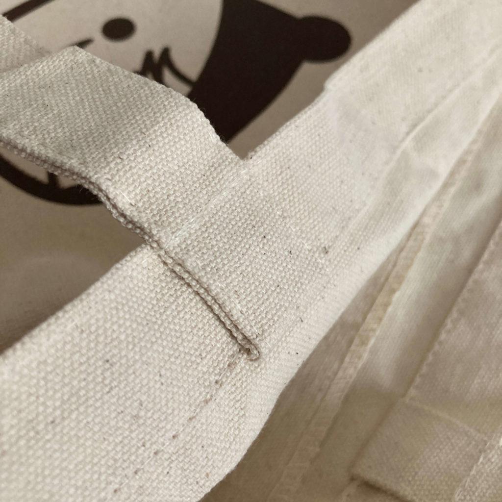 チー坊トートバッグの縫い目
