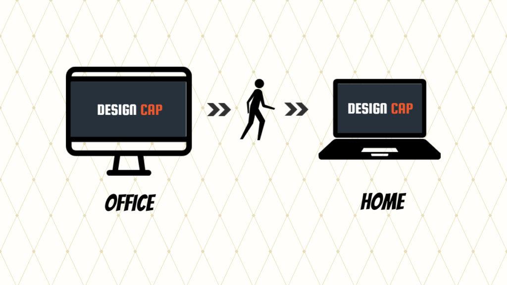 designcapはログインすればどこでも作業できる