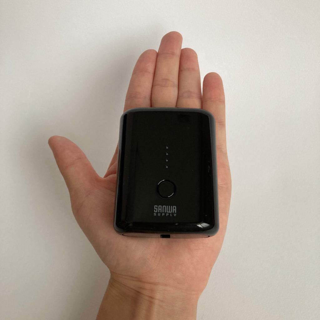 BTL-RDC20BKは手の平サイズ