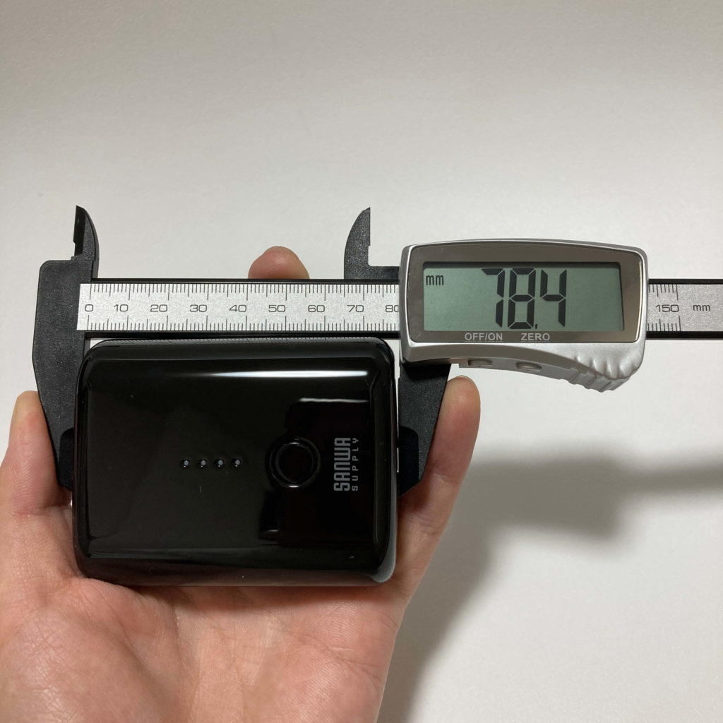 BTL-RDC20BKのサイズ感