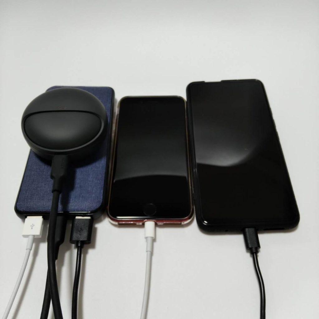 BMB-PD103は3台同時充電可能