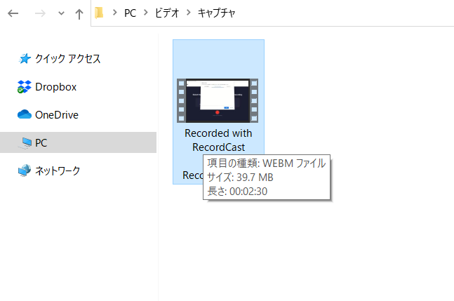 RecordCastのファイル形式
