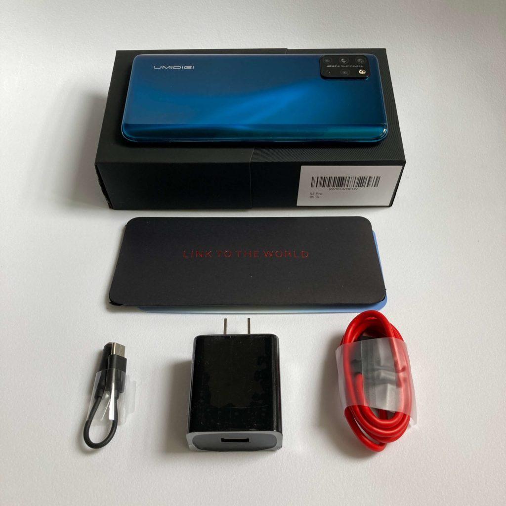 UMIDIGI S5 Proの付属品