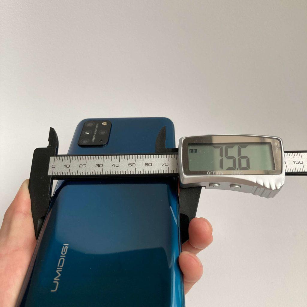 UMIDIGI S5 Proのサイズ