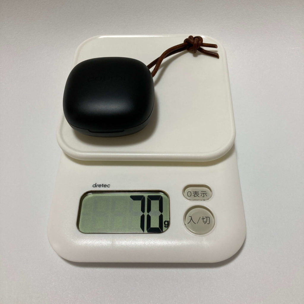 ANC-860の総重量は70g