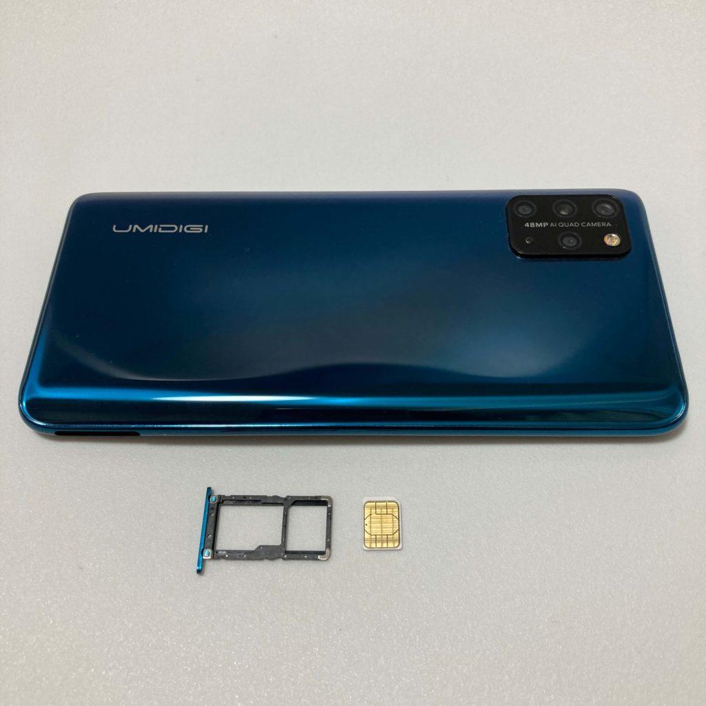UMIDIGI S5 ProのSIMカードスロット