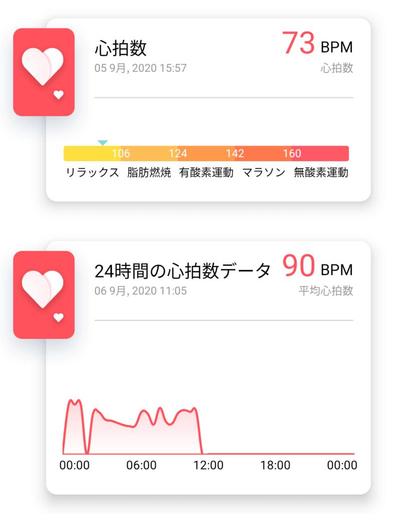 心拍の24時間計測