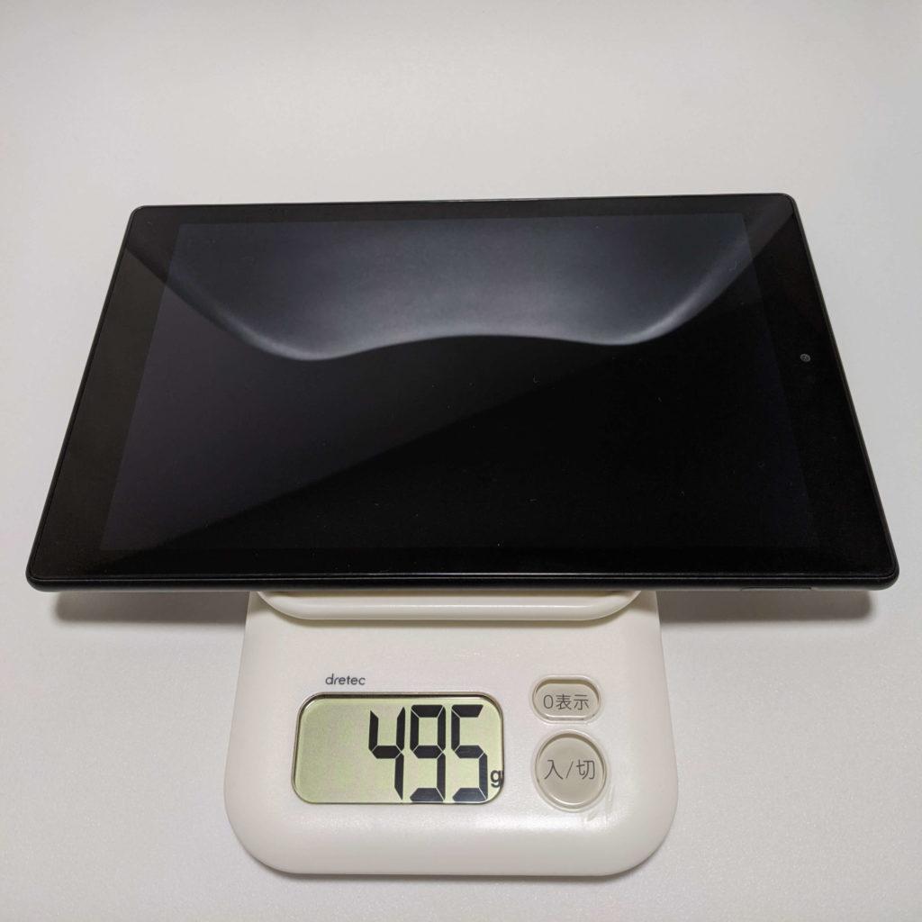Fire HD 10の重さ