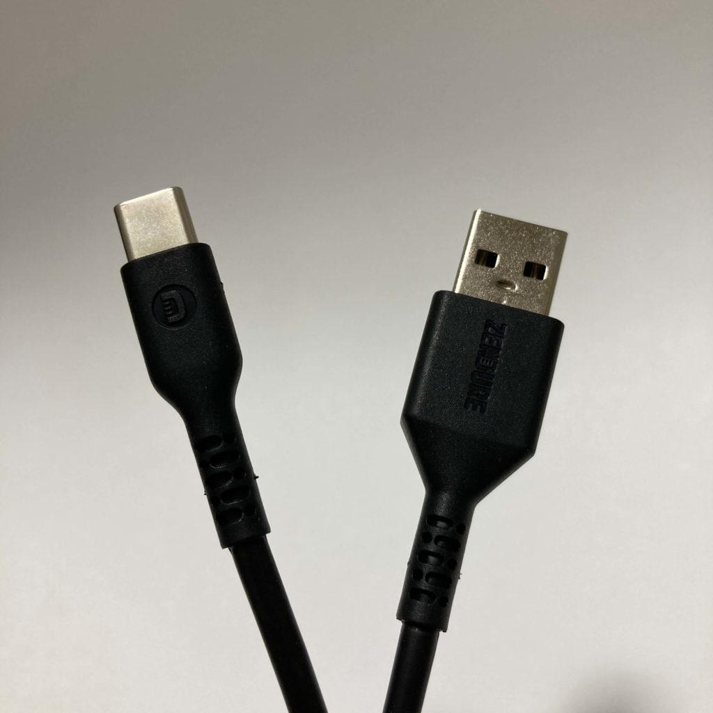 SuperMiniの付属充電ケーブル