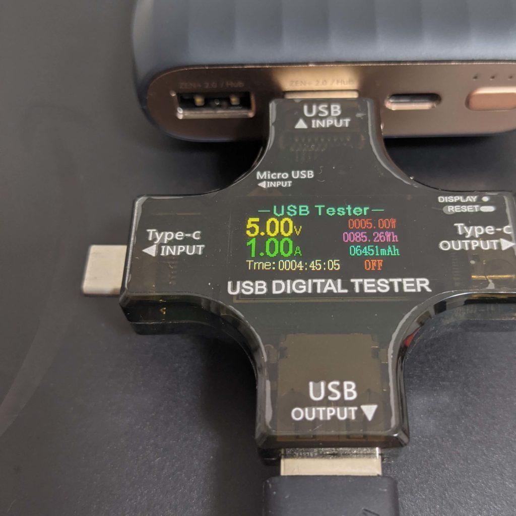 X5のUSB-Aポートで充電