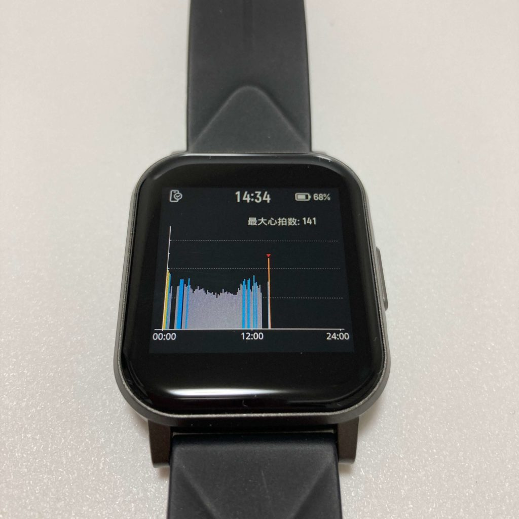 Watch 1の24時間心拍計測