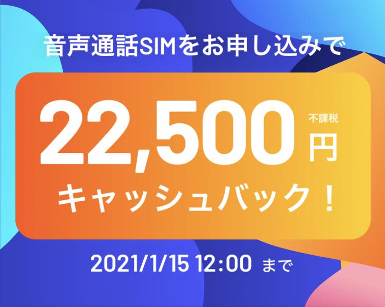 2020年11月版y.u mobileキャンペーン