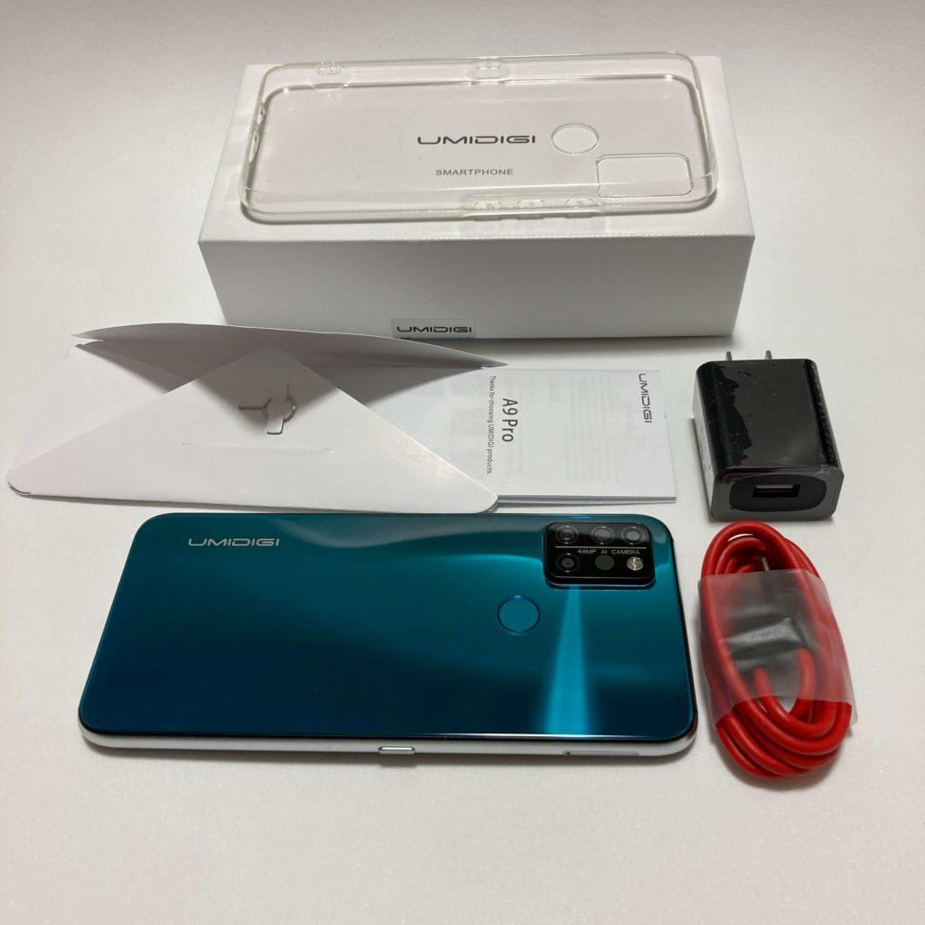 UMIDIGI A9 Proの付属品