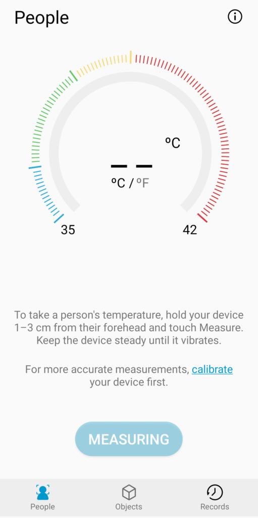 A9 Proの温度計測機能