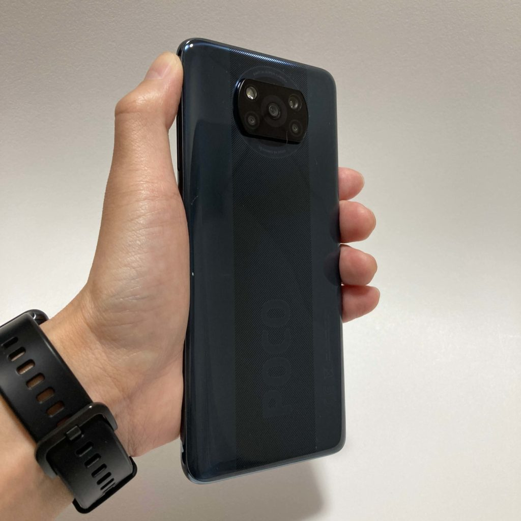 POCO X3 NFCのサイズ感
