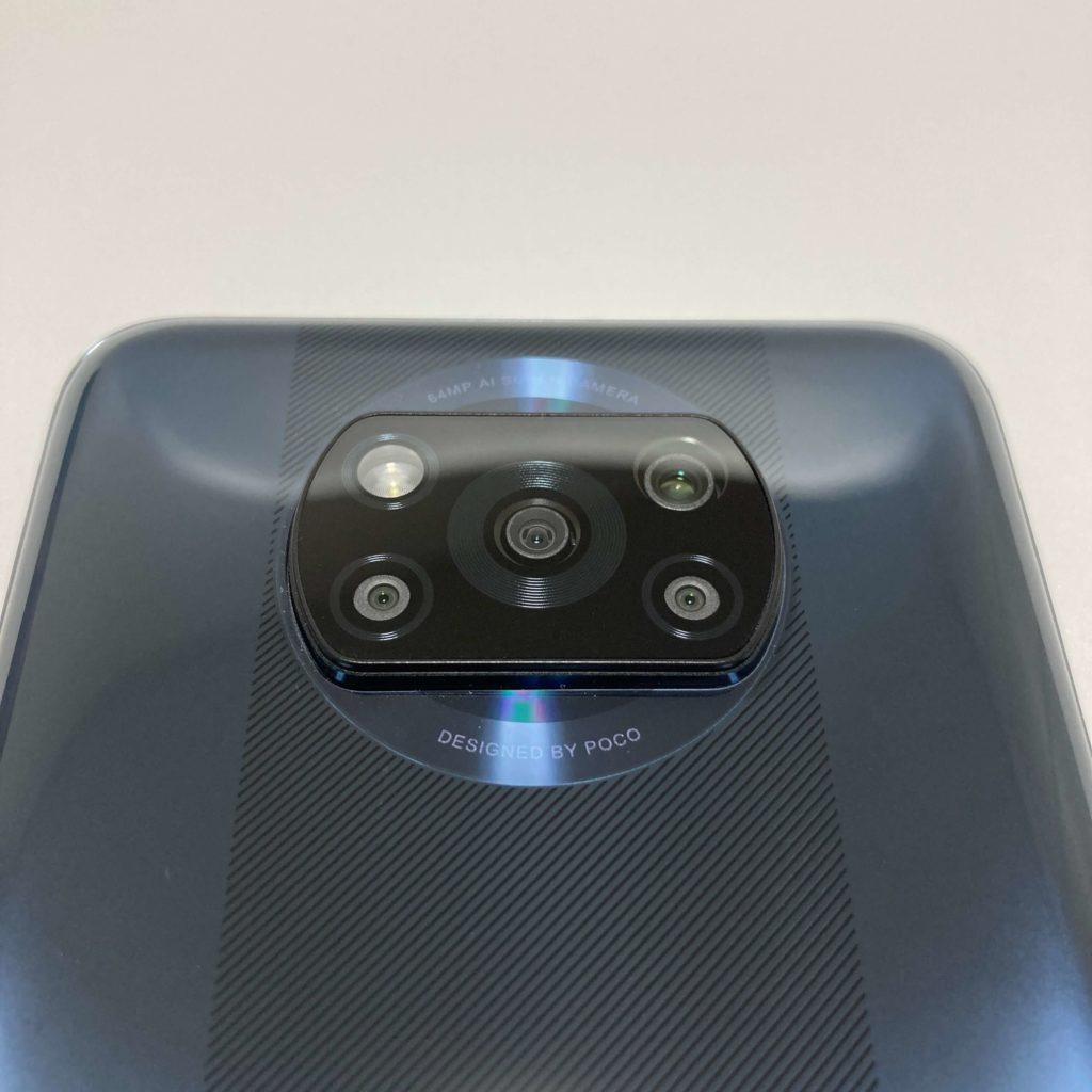 POCO X3 NFCのカメラ部分