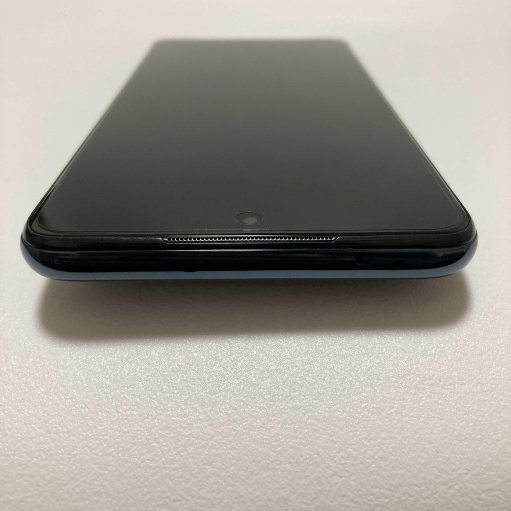 POCO X3 NFCの上部