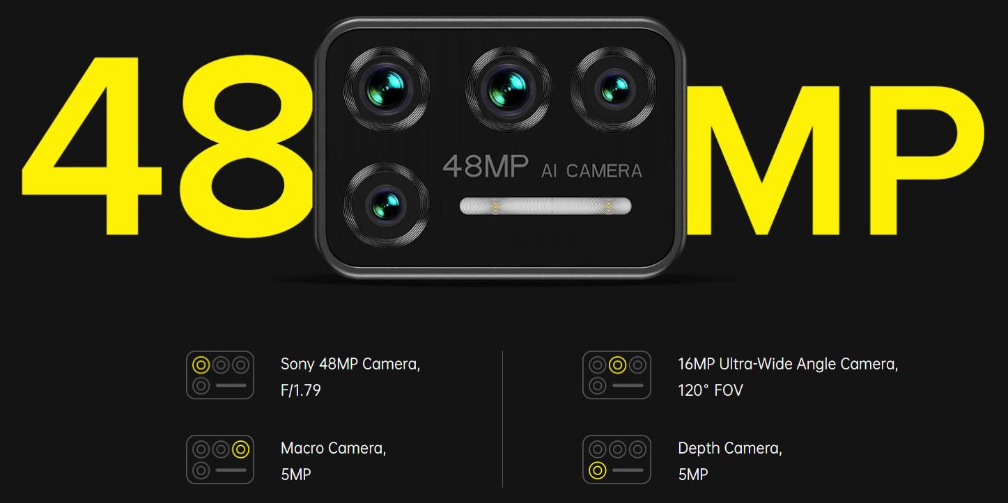 UMIDIGI BISONのカメラ
