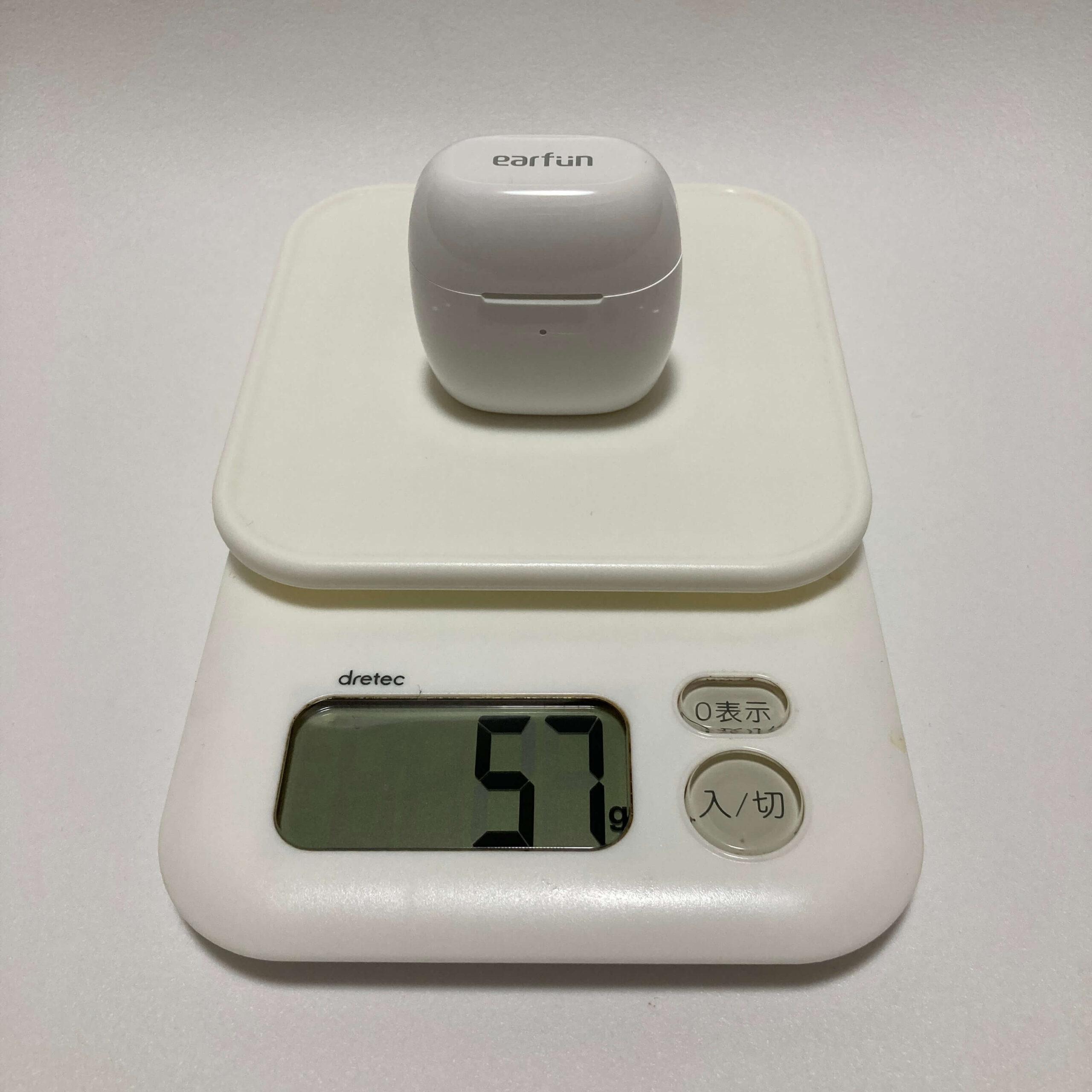 EarFun Airの総重量